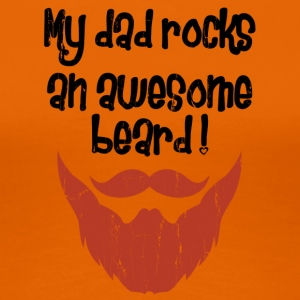 DADBEARD ROCKS - Women's Premium T-Shirt