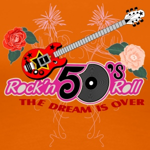 50 s rock n roll - Frauen Premium T-Shirt