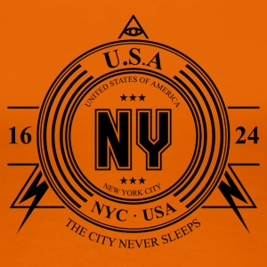 New York City Badge - T-shirt Premium Femme