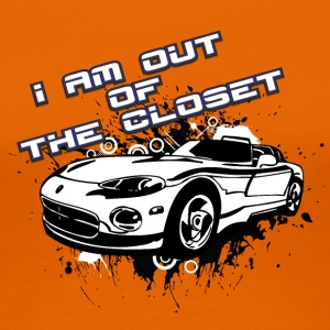 I am out of the closet with my cabriolet - Women's Premium T-Shirt