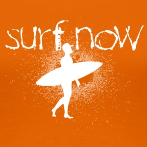 surf now surfer with cap white - Women's Premium T-Shirt