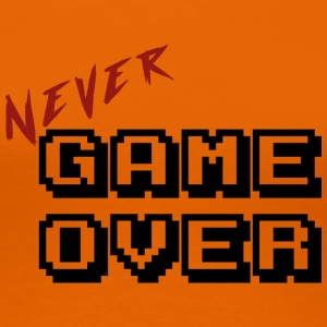 Nooit game over transparante - Vrouwen Premium T-shirt