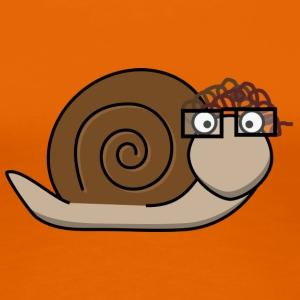 Old snail brown - Frauen Premium T-Shirt