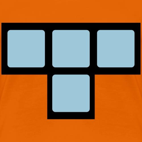 T Baustein Block des Computerspieleklassiker - Frauen Premium T-Shirt