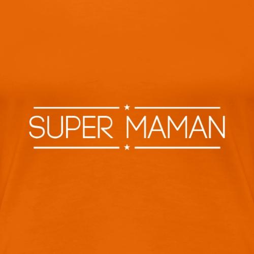 Logo Super Maman Blanc - T-shirt Premium Femme