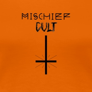 Mischief Cult | Upside Down Cross Design | okkulte - Premium T-skjorte for kvinner