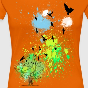 birds in color - Frauen Premium T-Shirt