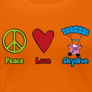 Peace Love Skydive - Women's Premium T-Shirt