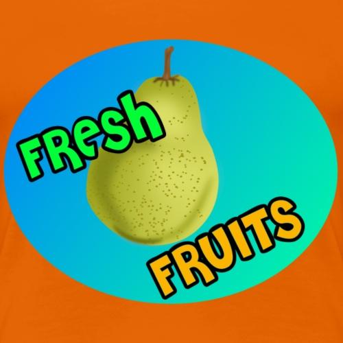 Fresh Fruits Birne - Frauen Premium T-Shirt