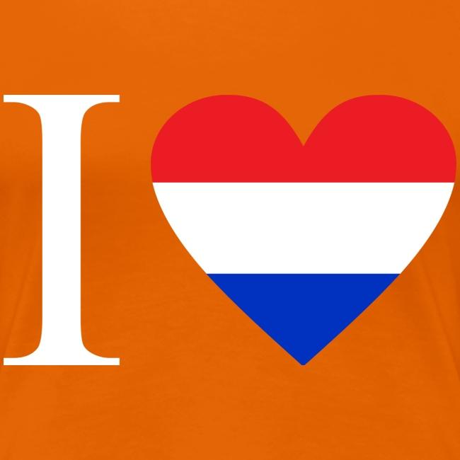 Ik hou van Nederland | Hart met rood wit blauw
