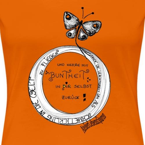 Krafttier Schmetterling - Frauen Premium T-Shirt