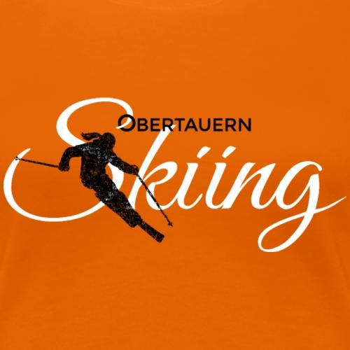 Obertauern Skiing (Weiß) Apres-Ski Skifahrerin - Frauen Premium T-Shirt