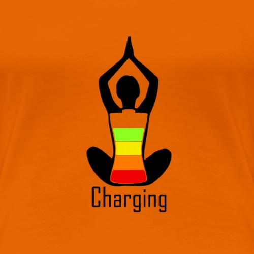 Yoga charging - Women's Premium T-Shirt