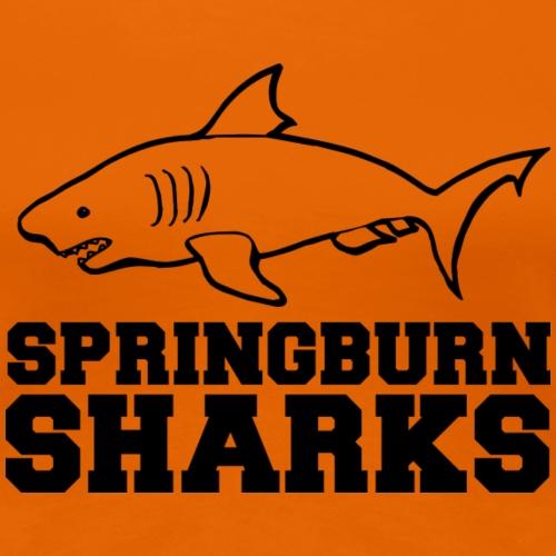 Springburn Sharks - Women's Premium T-Shirt