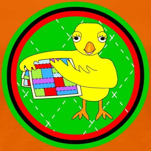 Quilting Chick Circle - Women's Premium T-Shirt