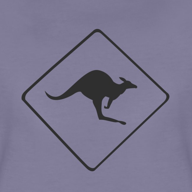 Känguru Schild