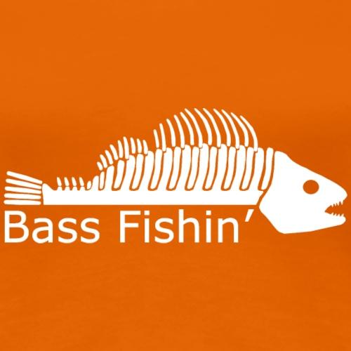 Bass Fishin 'Logo White print - Women's Premium T-Shirt
