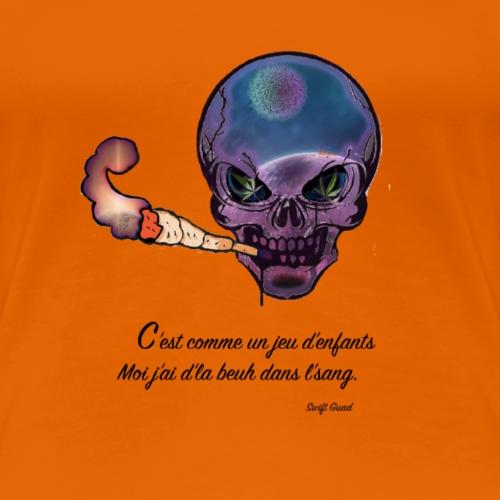Crâne Galaxie Smock - T-shirt Premium Femme