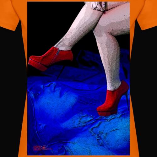 rote Schuhe Rache - Frauen Premium T-Shirt