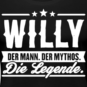 Mann Mythos Legende Willy - Frauen Premium T-Shirt