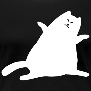 cat purrs - Women's Premium T-Shirt