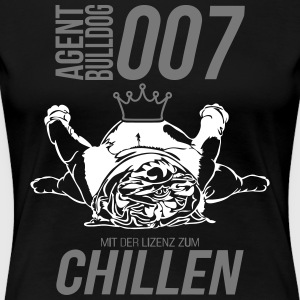 LICENSED TO CHILLING - English Bulldog - Women's Premium T-Shirt