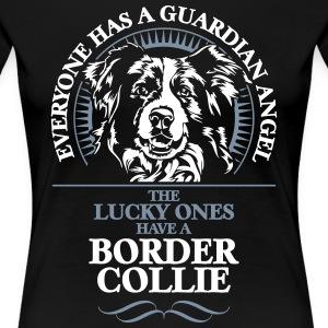 GUARDIAN ANGEL Border Collie - Premium T-skjorte for kvinner