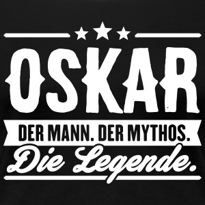 Man Myth Legend Oskar - Premium T-skjorte for kvinner