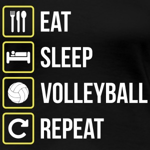 Eat Sleep Volleyball Gjenta - Premium T-skjorte for kvinner