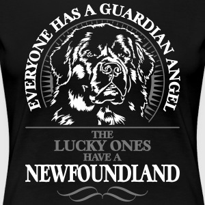 GUARDIAN ANGEL NEWFOUNDLAND - Premium T-skjorte for kvinner
