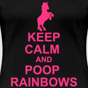 Keep Calm Unicorn - Premium T-skjorte for kvinner