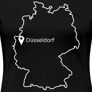 Place to be: Dusseldorf - Vrouwen Premium T-shirt