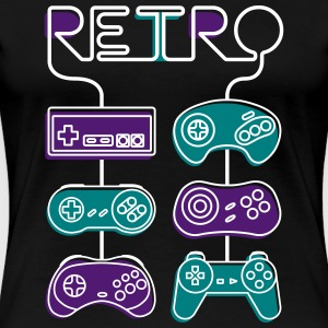 retro Gaming - Premium-T-shirt dam