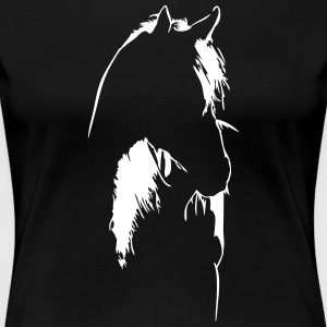 Horse in backlight - Women's Premium T-Shirt