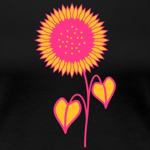 Sunflower pink - Dame premium T-shirt