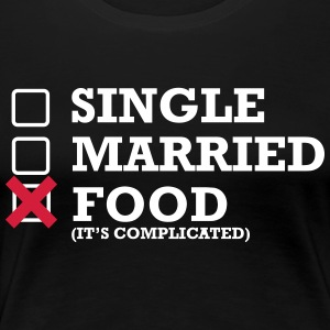 Single - Married - Food - Frauen Premium T-Shirt