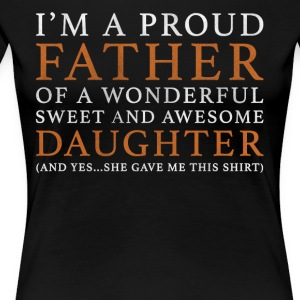 Original Father Daughter Gift - Women's Premium T-Shirt