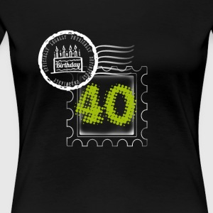 pie 40th birthday gift stamp Post - Women's Premium T-Shirt