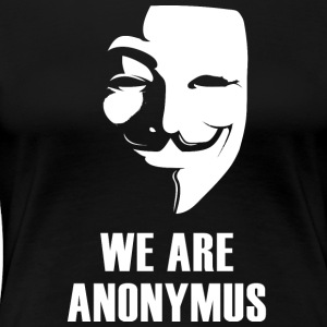 anonymus vi är mask demonstration vit Revolutio - Premium-T-shirt dam