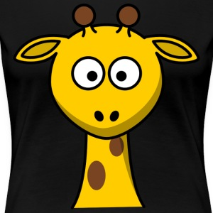 Sweet Giraffe with long neck - Women's Premium T-Shirt