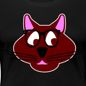 Hipster cat - Women's Premium T-Shirt