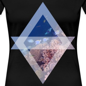 Surgeonfish on the reef - Women's Premium T-Shirt