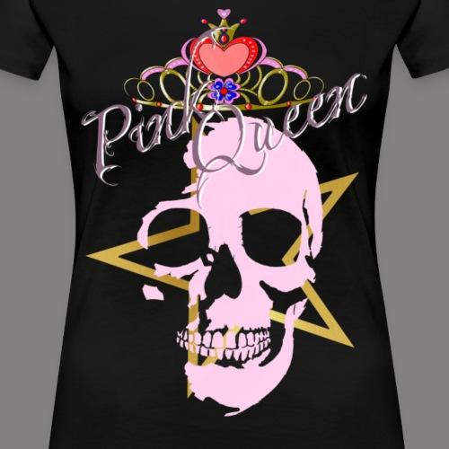 Pink Queen Skull with Star - Frauen Premium T-Shirt