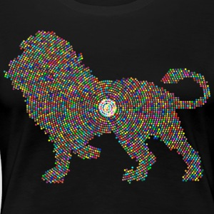 colored lion - Women's Premium T-Shirt