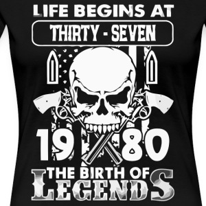 1980 födelse Legends skjorta - Premium-T-shirt dam