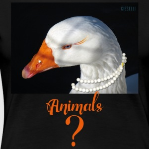 animals - goose - Women's Premium T-Shirt