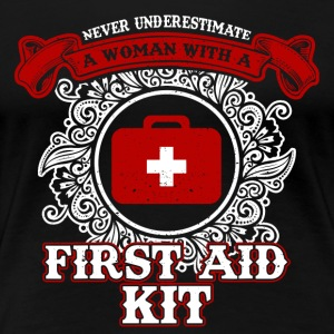 No woman with first aid kit - Women's Premium T-Shirt