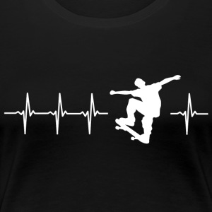 I love rollerblading (skating heartbeat) - Women's Premium T-Shirt