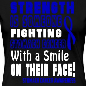 Stomach Cancer Awareness! Fighting with a Smile! - Women's Premium T-Shirt