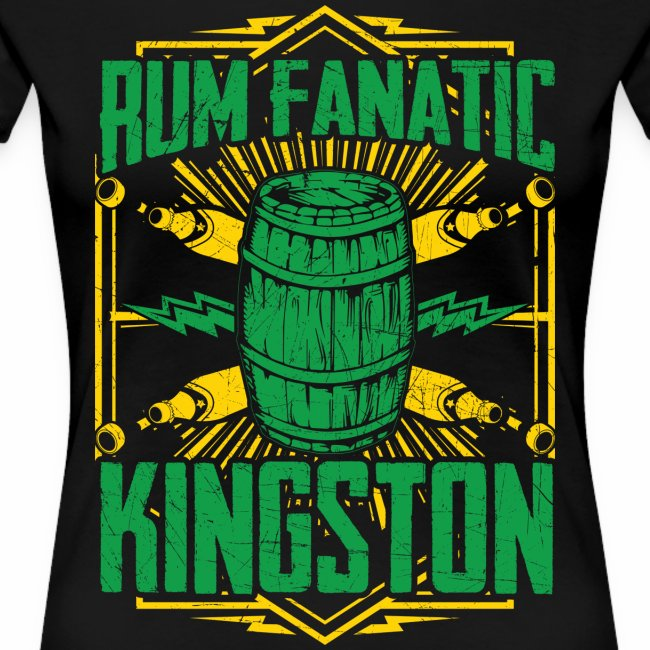 T-shirt Rum Fanatic - Kingston, Jamajka